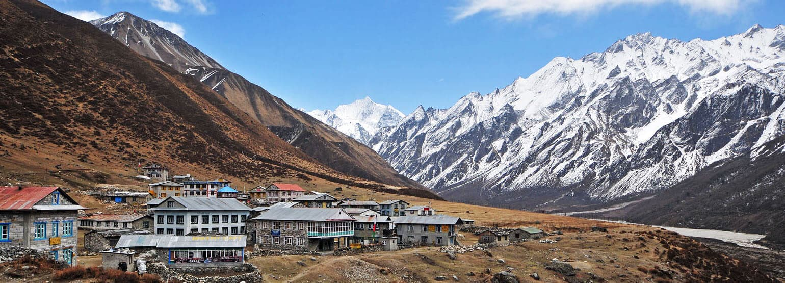 the village of Kyangjin in Langtang - awesome