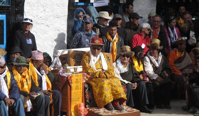 why visit upper mustang - picture of the late king of Upper Mustang - Nepal