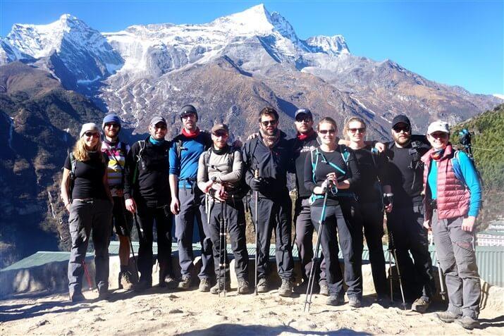 The Spiritual Everest Wedding Trek group on the excursion.