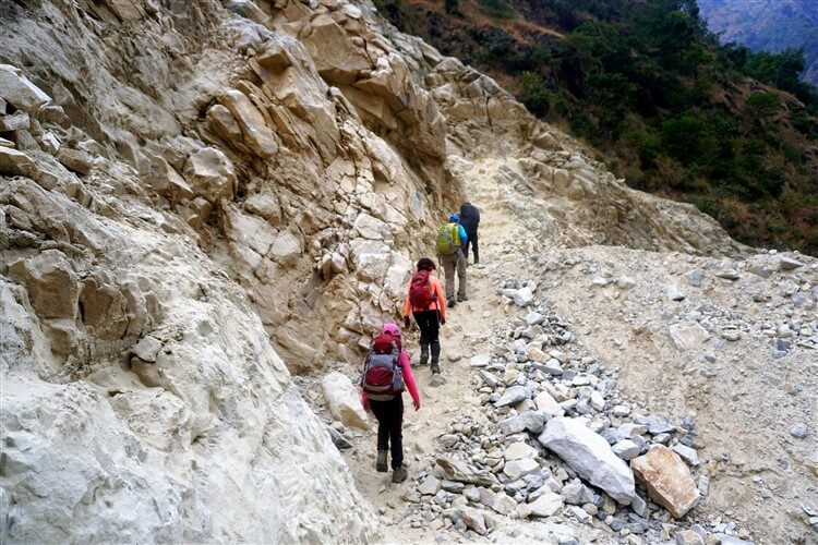 trekking in the region of Manaslu