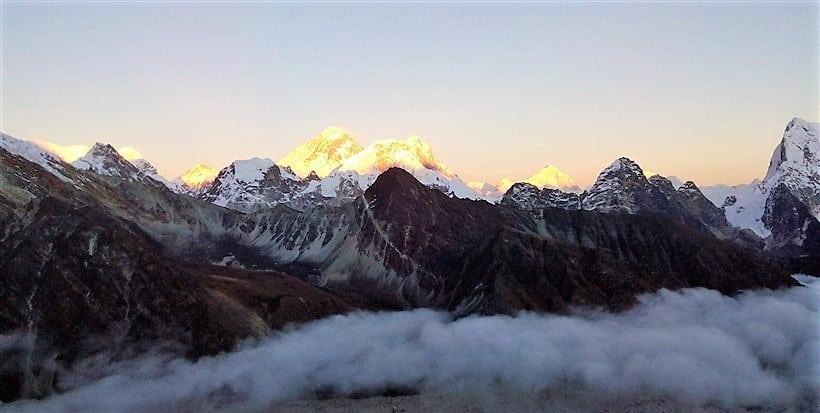 sunrise on Everest